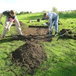 De-turfing in Leeds © Amy Downes, Finds Liaison Officer for West Yorkshire